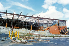 Destroyed Music Store after Hurricane Andrew, Cutler Ridge (StevenM_61) Tags: disaster storm hurricane commercialbuilding recordstore musicstore ruins destroyed destruction parkinglot cutlerridge cutlerbay florida unitedstates