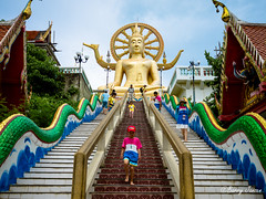 Stairway to Big Budha (Barry Jansen Travel Photographer) Tags: streetphoto streetphotography colours bigbudha kohsamui thailand travelling travelphotography olympus omd em1 mzuiko digital ed 1240