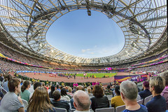 Roar of the crowd. London 2017 (Sean Hartwell Photography) Tags: athletics iaaf worldchampionships 2017 london track field crowd people spectators fans samyang8mm fisheye sport stratford londonstadium olympic stadium