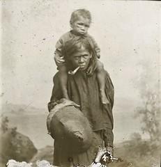 AUSTRALIAN ABORIGINAL WOMAN & CHILD - circa 1900 (Aussie~mobs) Tags: vintage australia aborigine native indigenous woman mother child pipe smoking
