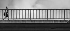 On His way...    Stockholm / Sweden (mikeback-streetphotography) Tags: people photography photo photooftheday photographer streetphotographers stockholm streetphotography sweden street streetart streetartistry streetarteverywhere streetlife streetphoto streetstyle slussen urbanwalls urban urbanart blackandwhitephotography blackandwhite black blackwhite bnw bw monochrome mono monochromatic gatufotografi guy bridge mikebackstreetphotography mike back