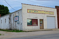 Work Clothes, Lake Village, IN (Robby Virus) Tags: lakevillage indiana in eds work clothes sporting goods store business building