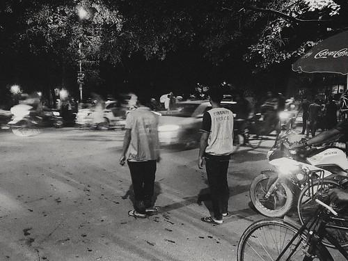 Community police. Traffic control. Dhanmondi. Dhaka. Bangladesh.