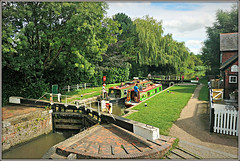 Top Lock, Braunston (Jason 87030) Tags: flicght cottage toplock six 6 2017 boats narrowboats pretty willow refelction leisure canal crt canalside towpath bridge water cut guc granunioncanal frame border image rare exclusive capture explore exist amazing pro amateur snap photo super great fantastic world bright light art photograph new trip uk sky travel sweet yummy bestoftheday smile picoftheday life allshots look nice likes lol flickr photostream people england greatbritain unitedkingdom fence paint