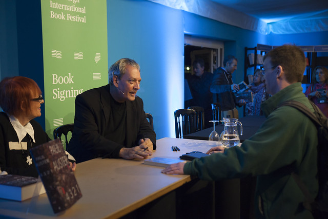 Paul Auster book signing