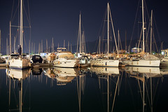 Boats and reflections (Tommaso Gorla) Tags: porto harbor sea night notte sera barche barca riflessi specchio reflections beautiful riflesso esterno outdoor esposizione exposition tempo time magic