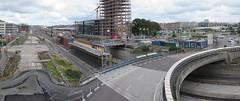Bygge på E45 sett från Göta älvbron i Göteborg 26 augusti 2017 (biketommy999) Tags: göteborg sverige sweden biketommy biketommy999 2017 panorama photoshop nybygge ombyggnad e45 bro
