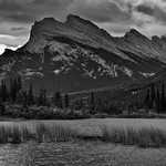 I Don't Think I Will Ever Tire of Seeing Mount Rundle! (Black & White, Banff National Park) thumbnail