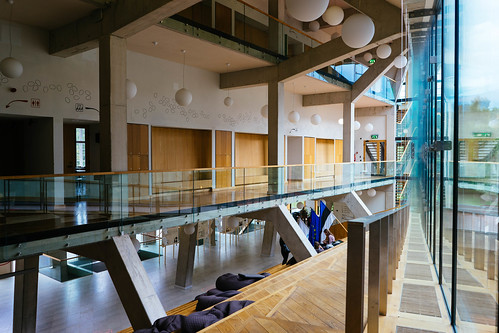 Modern school interior in Estonian college  / Modernes Schulinnenraum in der estnischen Hochschule