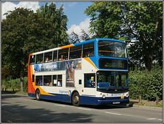 18128, Barton Road (Jason 87030) Tags: dennis trident kettering bartonroad 50 bedford rushden doubledecker stagecoach bus vehicle frame border wheels kn04xjc 18128