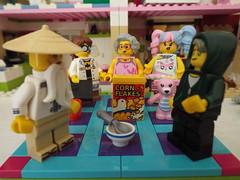 LegoMe has some new Friends (annrushworth) Tags: lego minifigures legome ninjago film cornflakes teddy master wu npop girl lloyd garmadon gpl tech