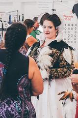 Scottish Renaissance Dress (GazerStudios) Tags: dress renaissance hair costumes scottish scots royalty feathers black white women pairs