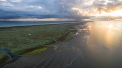 Dreamflight (Dani℮l) Tags: schiermonnikoog landscape luchtfoto waddenzee ochtend sunrise zonsopkomst natuur nature waddeneiland northsea shower rain weather weer nederland netherlands holland unesco slenk kwelder beach high reflection sunlight