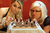 Queens of Chess (Davien Orion) Tags: chess clones multiplicity flickrmultiplicity adobephotoshop game multiples explore red models