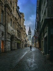 Postcard from Rouen (Pat Kelleher) Tags: iphone rouen france painterly cityscape atmosphere historic architecture