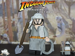 Custom LEGO Raiders of the Lost Ark: Sallah (Will HR) Tags: lego custom indianajones raidersofthelostark sallah