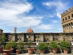 View of the Palazzo Vecchio & Duomo (travelontheside) Tags: italy italia tuscany toscana florence florenceitaly firenze uffizi uffizigallery art artmuseum galleriadegliuffizi renaissance