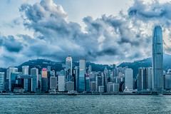 On a cloudy Day in Kowloon facing Hongkong Island - Hongkong 38/188 (*Capture the Moment*) Tags: 2017 architecture centralplaza fotowalk hongkong hongkongconventionandexhibitioncenter sonya7m2 sonya7mii sonya7mark2 sonya7ii sonyfe2470mmf4zaoss sonyilce7m2