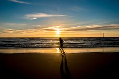 Sunset activity (wiedenmann.markus) Tags: sunset beach zuiderstand nature running run jogging sports moving peace mind