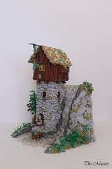Watchtower at Farhin Falls (~The Maestro) Tags: castle lego tower water fall wood avalonia goh