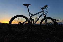 MTB Sunset (tomBW) Tags: phoenix arizona mountain bike sunset sony rx100iii rx100m3 turner sultan