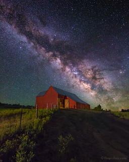 Red Barn & Milky Way sky