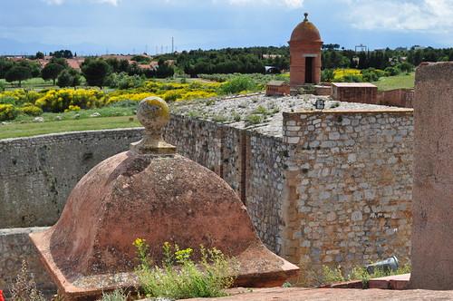 Vue sur le village, forteresse (XVe-XVIe), Salses, Corbières maritimes,   Roussillon, Occitanie, France.