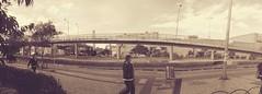 Panorámicas (josespektrumphotography) Tags: panoramica foto retro bus josespektrumphotography calle puente sepia suba colombia bogota gente