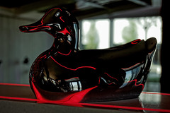 Red duck (Мaistora) Tags: art sculpture glass decorative design designer bird duck red black interior decoration smooth streamlined glossy shiny reflections fluid flowing dof bokeh stilllife light shadow color colour style stylish elegant beauty beautiful