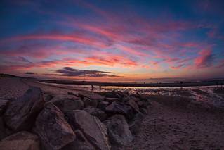 Sunset at Crosby Landing Beach
