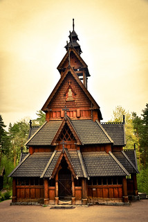 Gol Stave Church at Norsk Folkemuseum - Oslo Norway