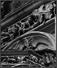 3 - Dieppe - Eglise Saint-Jacques - Le Diable est dans les détails (melina1965) Tags: normandie seinemaritime août august 2017 nikon d80 mosaïque mosaïques mosaic mosaics collages collage macro macros noiretblanc blackandwhite bw église églises church churches sculpture sculptures dieppe