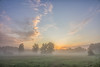Sunrise with Mist (Martine Lambrechts) Tags: sunrise with mist landscape nature morning clouds