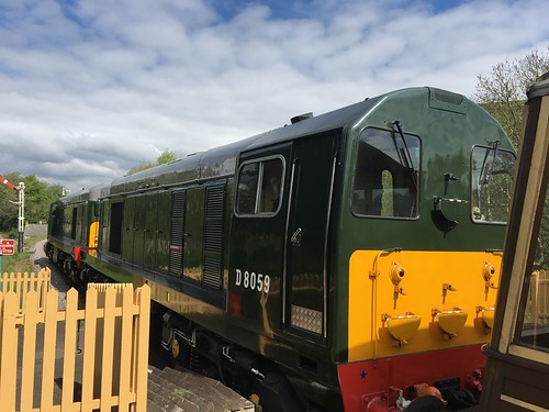 Class 20 locomotives at Corfe Castle