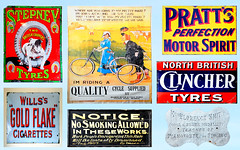 BEAMISH ENAMEL SIGNS MONTAGE # 3. (tommypatto : ~ IMAGINE.) Tags: enamelsigns history advertising beamish museum