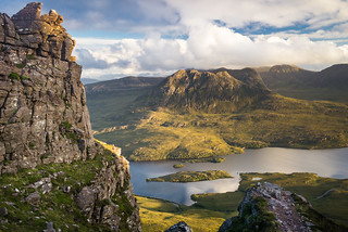 Golden hour from Stac Pollaidh