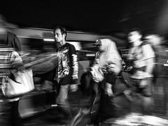 Going Home (Henry Sudarman) Tags: blackandwhite hitamputih bw monochrome people humaninterest nightshot bekasi jawabarat rushhour afterhour olympus pen epl7 lumix12323556 olympuspenepl7 street train station trainstation publictransportation transportation