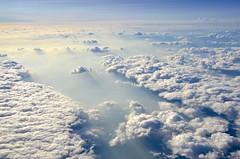 Clouds & Smoke (hectic skeptic (Almost back)) Tags: iceland keyflavik seattle washington jet sky clouds smoke