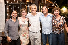 Jose, Catherine, Diego, Jo and Marie-Jeanne, Patio de Tango, Brussels, June 2017