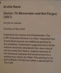 """#614, """"Zachor 'To Remember and Not Forget', Archie Rand, commandments from the Torah, illustrated (David McSpadden) Tags: zachor to remember not forget614archie randcommandments from torah illustrated"""