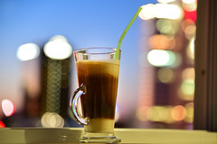 Coffee (free3yourmind) Tags: coffee cafe lights milk view espresso sweet minsk belarus