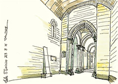 Melle, Saint Savinien (Croctoo) Tags: croctoo croctoofr eglise melle poitou poitoucharentes watercolor aquarelle stsavinien