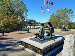 The Homecoming (walneylad) Tags: victoria britishcolumbia canada downtown publicart sculpture scenery view summer august afternoon sun shade bluesky