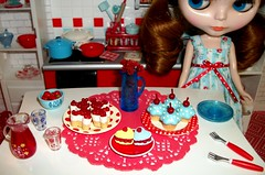 Red and blue kitchen # 9