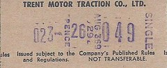 Trent Motor Traction Co. Ltd. Bus Ticket (Faversham 2009) Tags: scan scanned document bus buses travel ticket trent motortraction co ltd