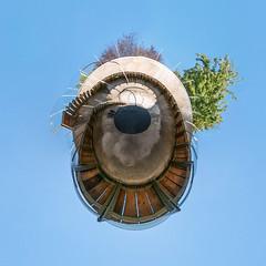 Skulpturenpark Köln (HamburgerJung) Tags: köln germany deutschland panasonicgm5 hugin art kunst skulptur stereographic planet littleplanet