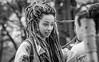 A special girl in Amsterdam (Pieter van de Ruit) Tags: girl woman outdoor blachwhite netherlands amsterdam straatportret streetportait hair dreadlocks fashion mokumgraaf city citylive streetlive straatfotograaf straatfotografie streetphotography urban olympusem1 image people streetcandit