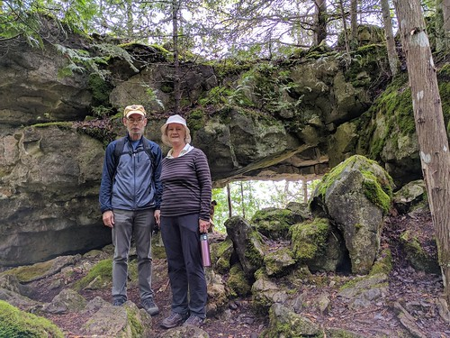 """mom/dad in front of """"open cave"""""""