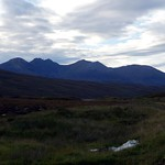 An Teallach from the road over the Dundonnell Forest plateau thumbnail