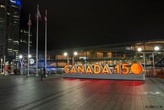 Canada 150 (Clayton Perry Photoworks) Tags: vancouver bc canada summer night lights explorebc explorecanada skyline sign canada150 canadaplace